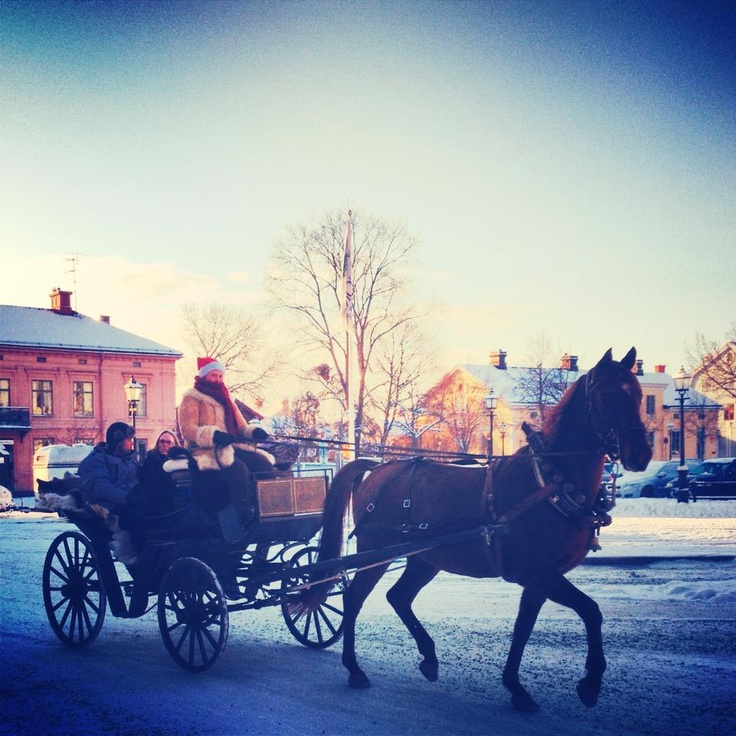 Traditional christmas market. Nora torg. Sweden