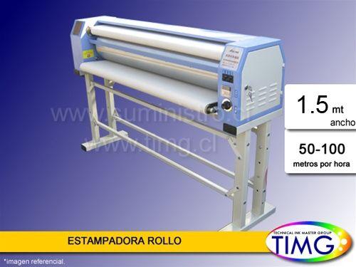 Ultima unidad disponible, estampadora por rollo 1,2 metros útiles serie TMJ - 220v 15 amper 6 velocidades regulables de giro, temperatura digital Valor 1.7990.990 con iva - entrega inmediata - http://www.suministro.cl/product_p/1011020201.htm