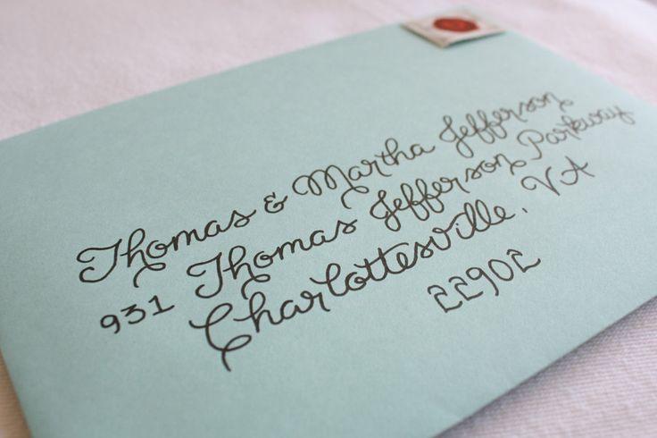 Handwritten Calligraphy Envelope Addressing By