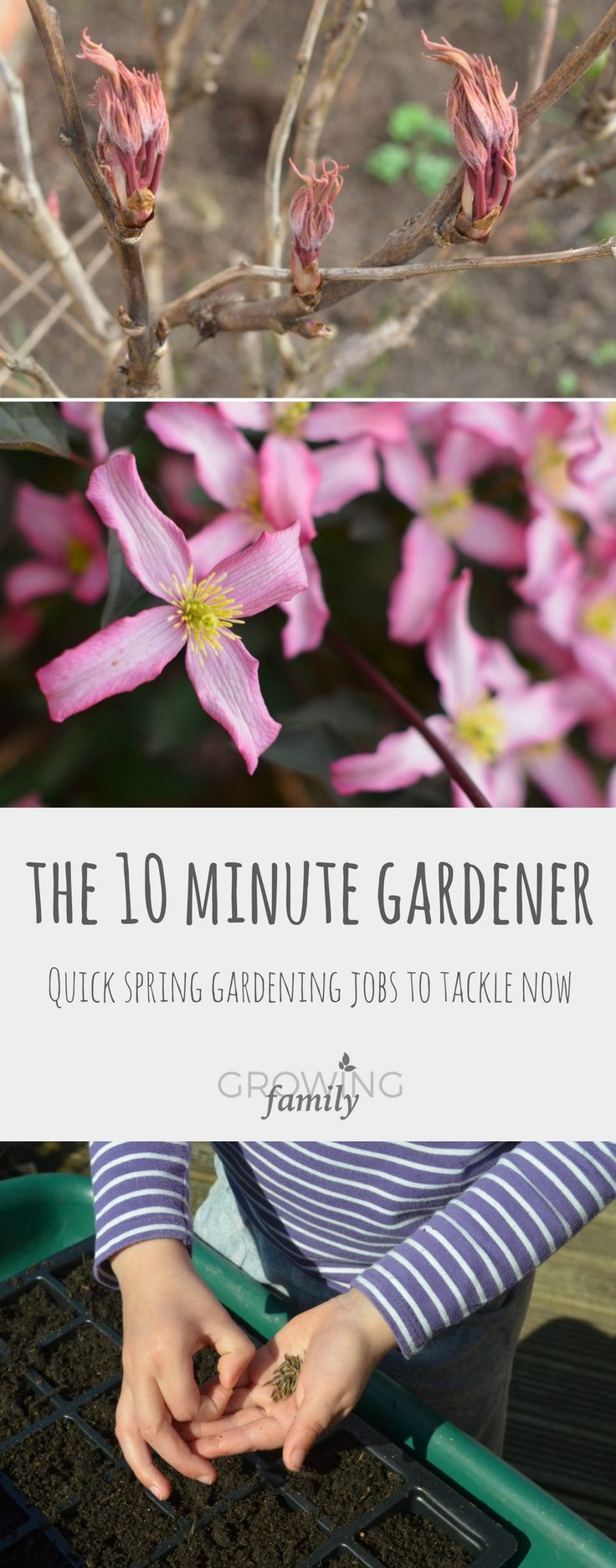 Only got 10 minutes to spare for gardening? Check out these quick spring gardening jobs to help you get your garden off to a great start!