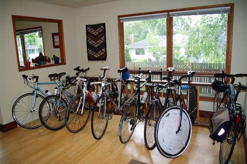 Wooden Bike Parking Rack