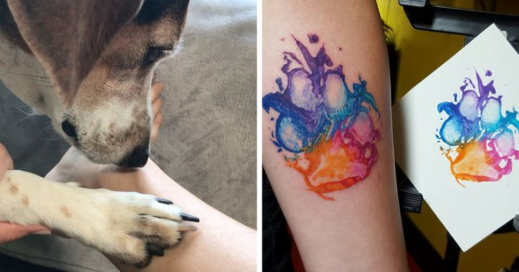 Dog Paw Prints Make The Most Pawesome Tattoos Ever, And Here's The Proof (10+ Pics) | Bored Panda