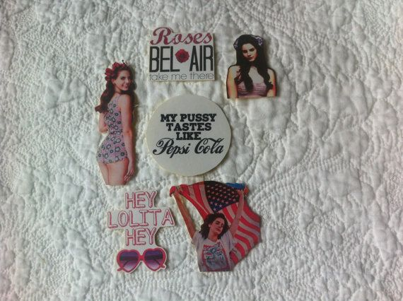 Hey, I found this really awesome Etsy listing at https://www.etsy.com/listing/165558003/lana-del-rey-fan-sticker-set-of-6