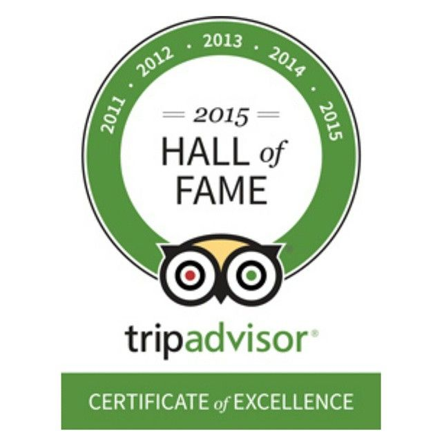We have made it to the 'Hall of Fame' because this year is our 5th time receiving #TripAdvisor Certificate of Excellence! #Thank you everyone for your continuous #support! #coe2015 #awards #halloffame #happy