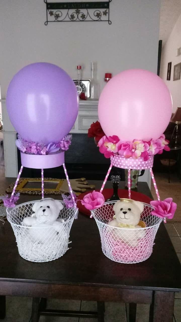 Ideas Baby Shower Nino Ositos.Canasta Con Ositos Voladores Baby Shower Girl Diy Baby