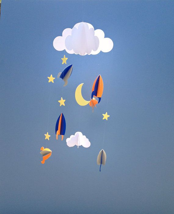 Hey, I found this really awesome Etsy listing at https://www.etsy.com/ca/listing/233190794/baby-mobile-rockets-and-stars