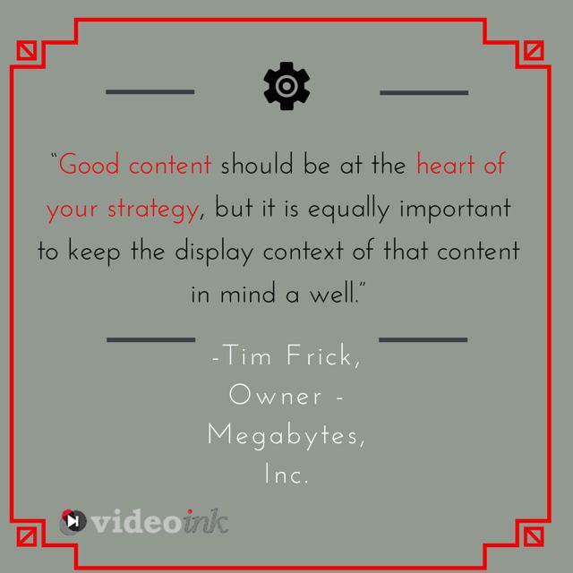Good content should be at the heart of your strategy...