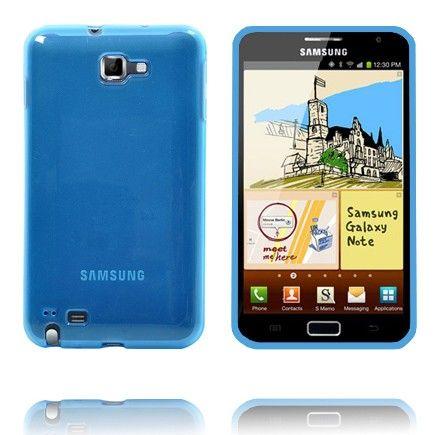 Läpikuultava TPU Muovinen (Sininen) Samsung Galaxy Note Suojakuori