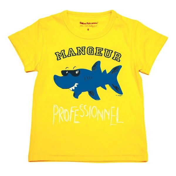 Tee shirt – requin - Virgo - Jaune