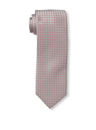 61% OFF Massimo Bizzocchi Men's Micro Pattern Tie, Grey/Red