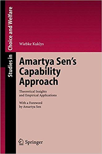 Amartya Sen's capability approach : theoretical insights and empirical applications / Wiebke Kuklys (2005)
