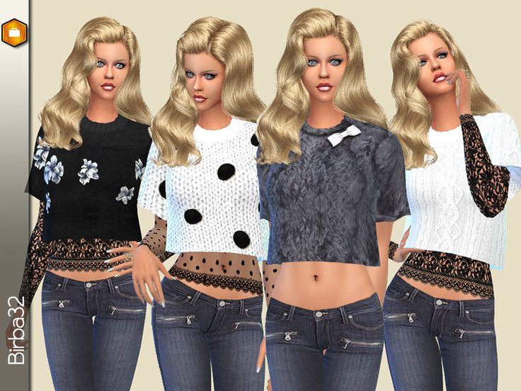 Super Les 151 meilleures images du tableau Vêtements Femmes Sims 4  YJ17