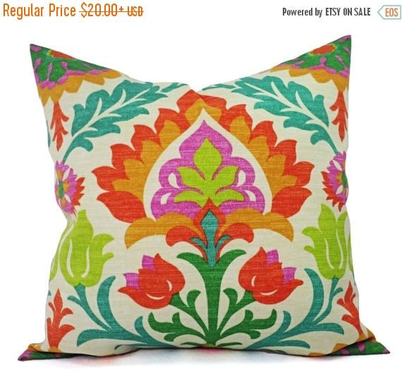 15% OFF SALE Two Orange Outdoor Pillow Covers   Orange Pillows   Orange  Patio Pillows