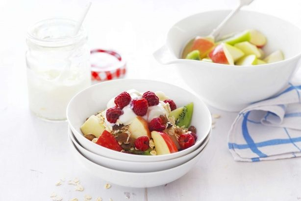 Enjoy this healthy breakfast fruit salad.