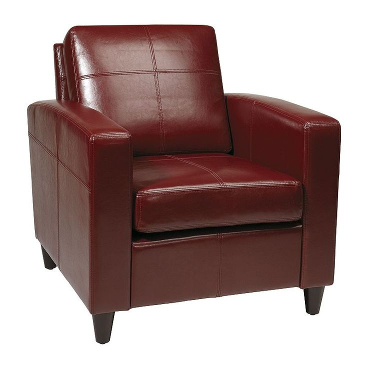 Office Star Products Avenue Six Venus Club Chair, Red