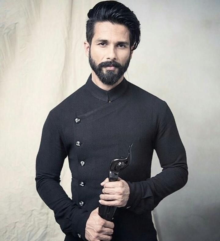 Shahid Kapoor//male, Indian, young adult, adult, facial hair, mustache, beard, black hair, dark hair, brown eyes