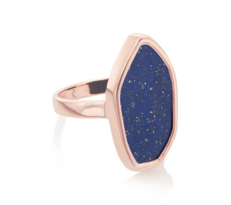 The flat cut, high polished Lapis stone in this ring makes it effortlessly cool and contemporary. Measuring approximately 20mm x 10mm (0.8 x 0.4