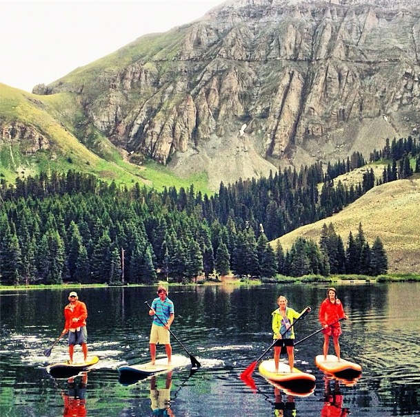 Paddle boarding at Alta Lakes. Telluride, Colorado | Jagged Edge Telluride