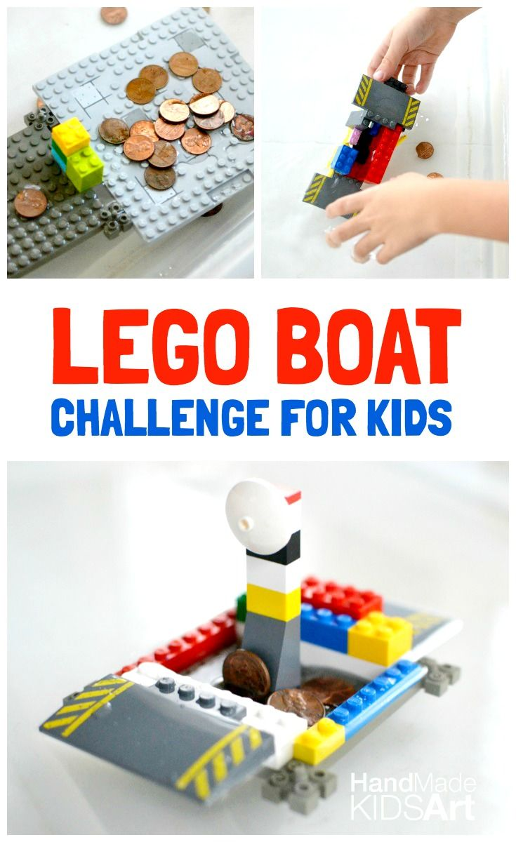 Let your kids explore the concept of buoyancy and put your their engineering skills to the test with this Lego boat challenge!
