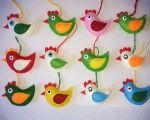 Veľkonočné dekorácie, strana 9 | Artmama - ručné práce a tvorivé nápady..pretty felt chickens!