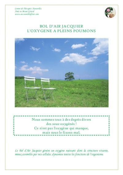 BOL D'AIR JACQUIER L'OXYGENE A PLEINS POUMONS - Read more about naturelles, anne, bruno, jacquier, fonctions and toutes.