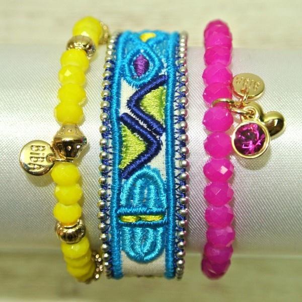 Biba bright coloured bracelet set www.buengustobagsandbits.nl