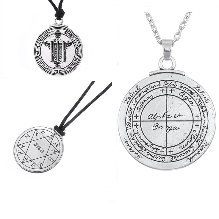 Dawapara Bijoux Talisman For Good Luck  Pentacle Seal Pagan Wiccan Jewelry Supernatural Amulet Necklace Men Pendant
