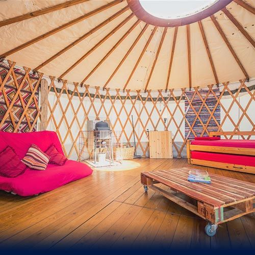 Luxury YURT GLAMPING in the perfect holiday location in North Wales - Sleep in a traditional, Mongolian Yurt for a uniquely different camping experience, very popular alternative, self-catering accommodation for the 21st century – Close to beach