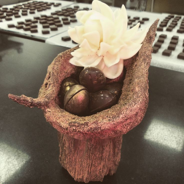 Beautifully crafted chocolate by MARC's Chocolatier Stephen Glenister #Chocolate #Artisan #Beautiful #ChocolateSculpture