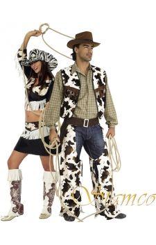 """Partez à la conquête du Far West grâce à ces costumes de Cow-Boy et Cow-girl, parfaits pour vos soirées déguisées sur les thèmes """"Films"""", """"Cow-Boys et Indiens"""", ou à l'occasion du Carnaval !"""