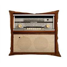 Almofada com Estampa Retrô Radio Vintage - Monky - R$ 52,70 - 45x45
