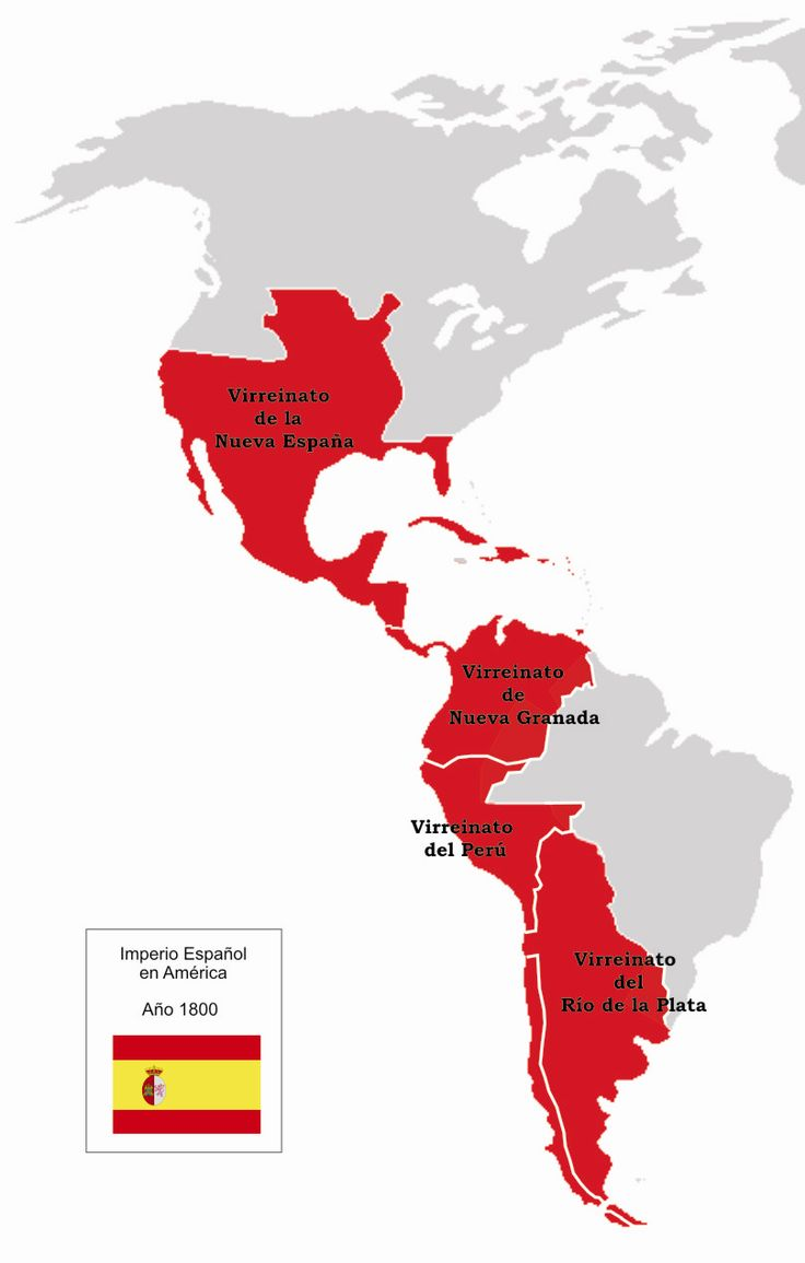 The height of the Spanish Empire in the Americas