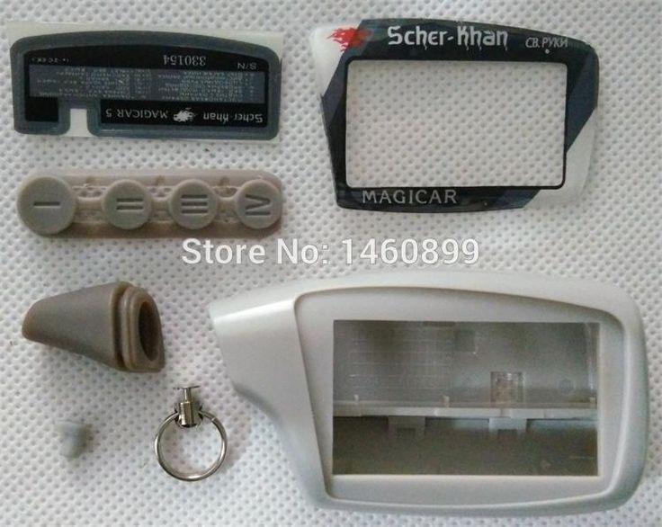 Caso Llavero De Plástico Cubierta Del Cuerpo para Scher Khan Magicar 5 Dos Control Remoto de Alarma de Coche LCD/Scher-khan M5 cadena de Llavero