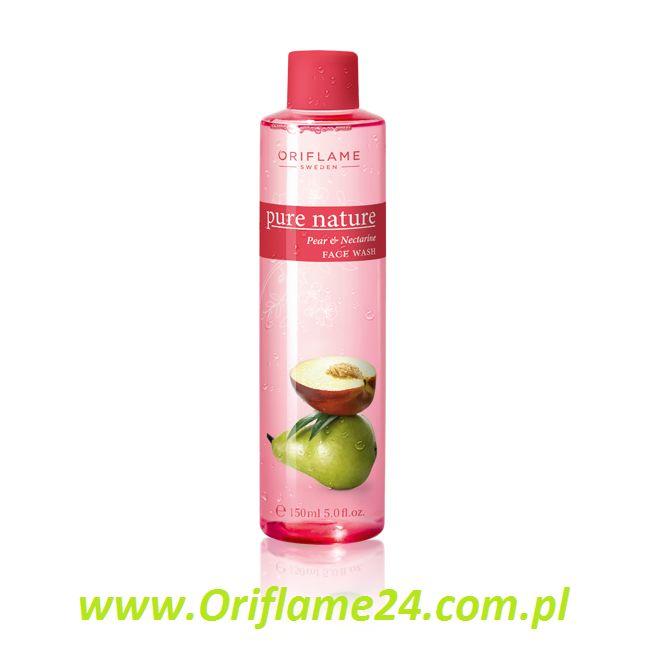 Pure Nature Pear & Nectarine Face Wash - Oczyszczający żel do twarzy Pure Nature z gruszką i nektarynką Oriflame. Oczyść twarz delikatnie pieniącym się żelem z ekstraktami z gruszki i nektarynki, które chronią Twoją skórę, działając antyoksydacyjnie. Rozprowadź na zwilżonej twarzy i szyi, zmyj. 150 ml