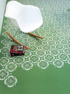 How to stencil a floor --love for the bathroom floor. #tutorial #diy #how_to #painting #floor #flooring #stencil #stenciling #stenciled_floor #pattern #decor #interior_design #home