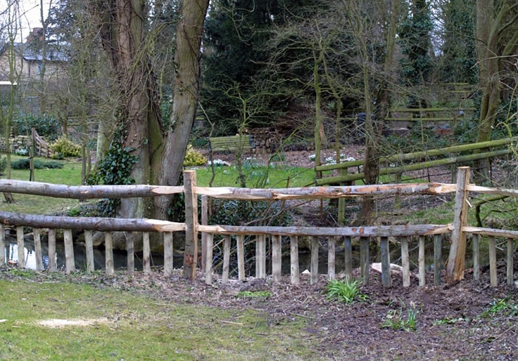 Rustic Fence perfect for the backyard