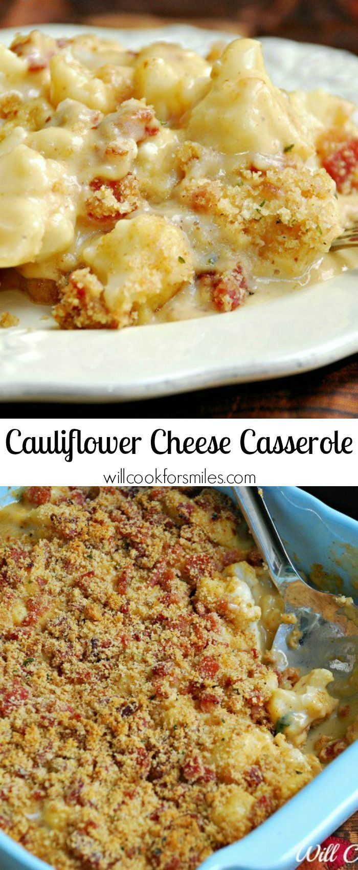 Cauliflower Cheese Casserole | from willcookforsmiles.com #sidedish #sides #comfortfood
