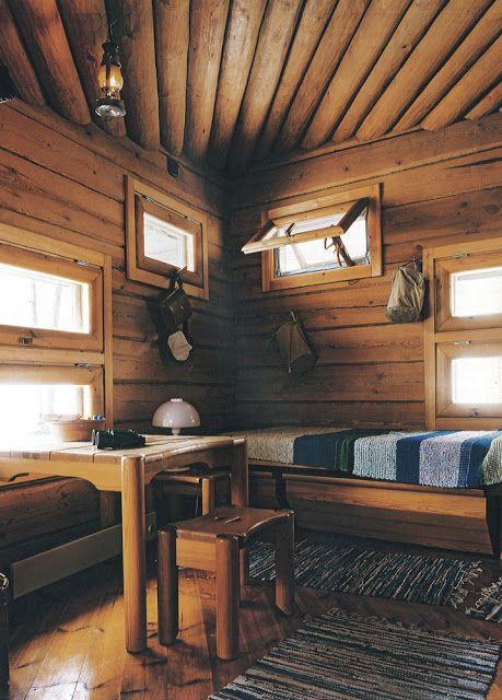 Fińskie inspiracje - wnętrze wiejskiego domu. To tam tysiące Finów uciekają na wakacje. #finuu #finland #finlandia #cottage #woodenhouse