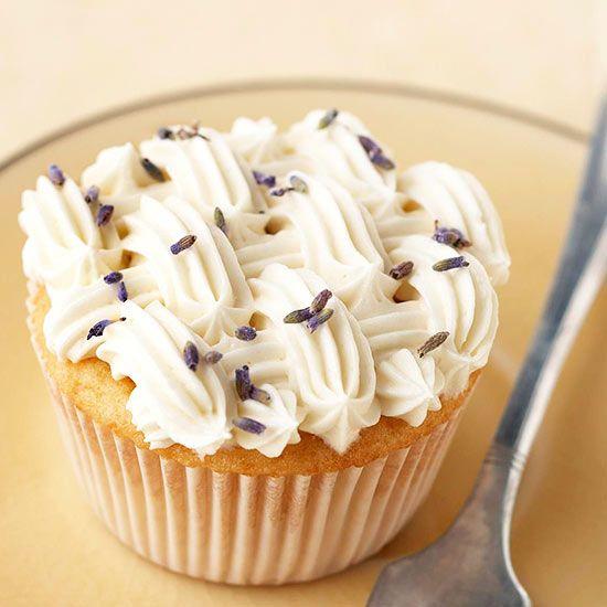 Lavender-Honey Cupcakes, anyone? Get more cupcake recipes here: http://www.bhg.com/recipes/desserts/cupcakes/our-best-cupcake-recipes/