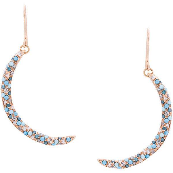 Carolina Bucci Smile Earrings ($4,750) ❤ liked on Polyvore featuring jewelry, earrings, metallic, gypsy jewelry, grey earrings, fish hook jewelry, carolina bucci jewelry and gypsy jewellery