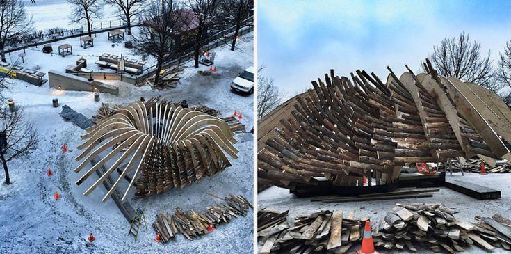 michel rojkind arquitectos warming huts the hybrid hut the forks winnipeg…