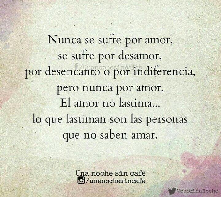 Las personas que no saben amar
