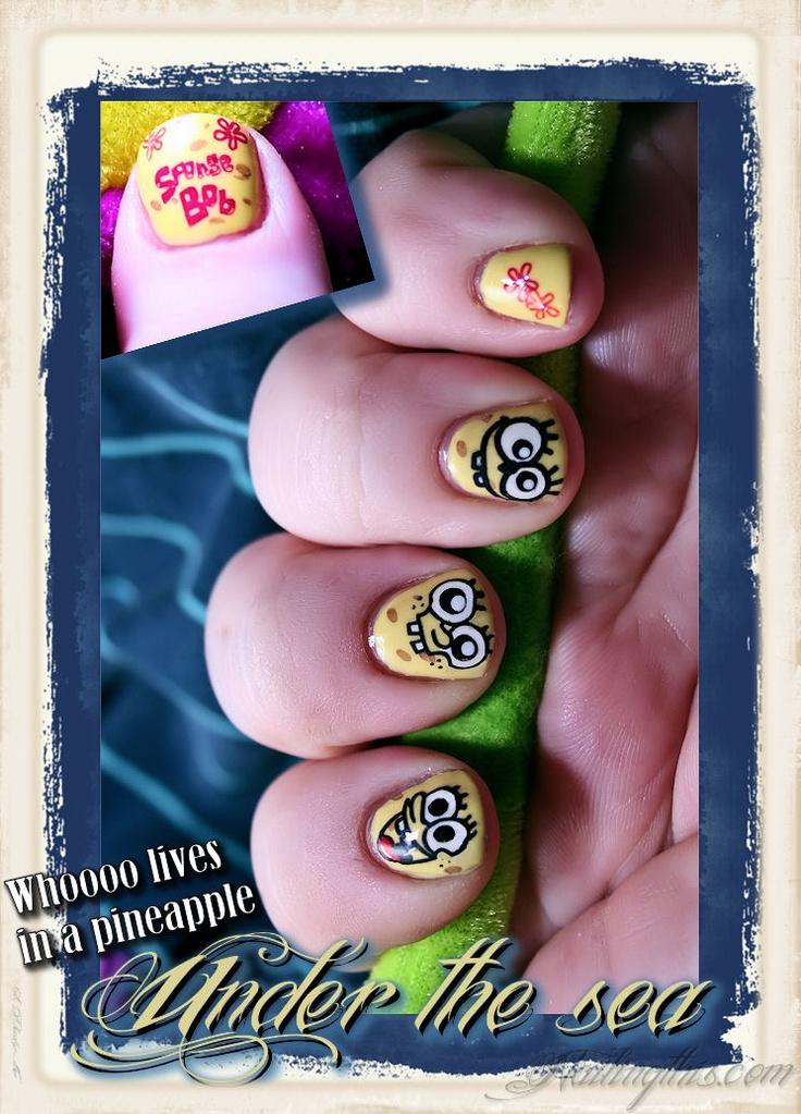 My Spongebob nails <3