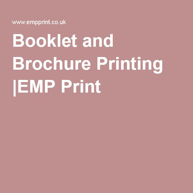 Booklet and Brochure Printing |EMP Print