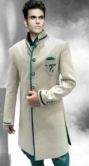 sherwani for men, sherwani uk, Asian clothes, wedding sherwani, Indian sherwani, sherwani indo western, sherwani, mens wedding sherwani www.statusindiafashion.com
