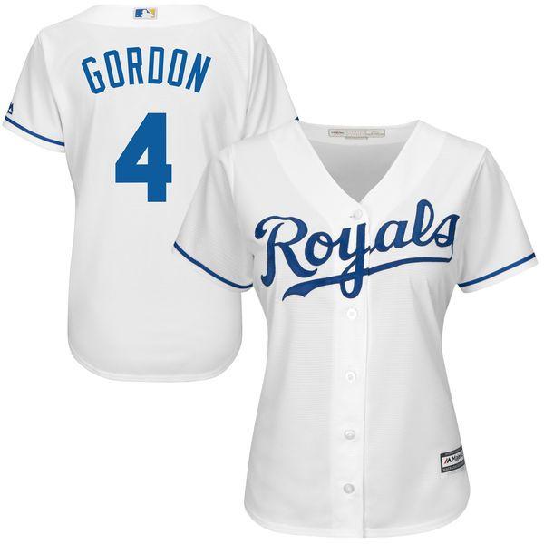 Alex Gordon Kansas City Royals Majestic Women's Cool Base Player Jersey - White - $99.99
