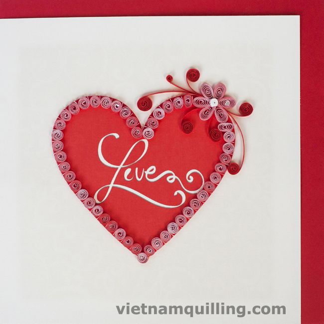 15 best Quilling Love Cards images on Pinterest  Paper quilling