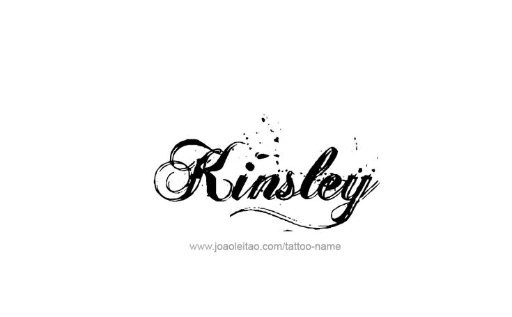 Tattoo Design Name Kinsley