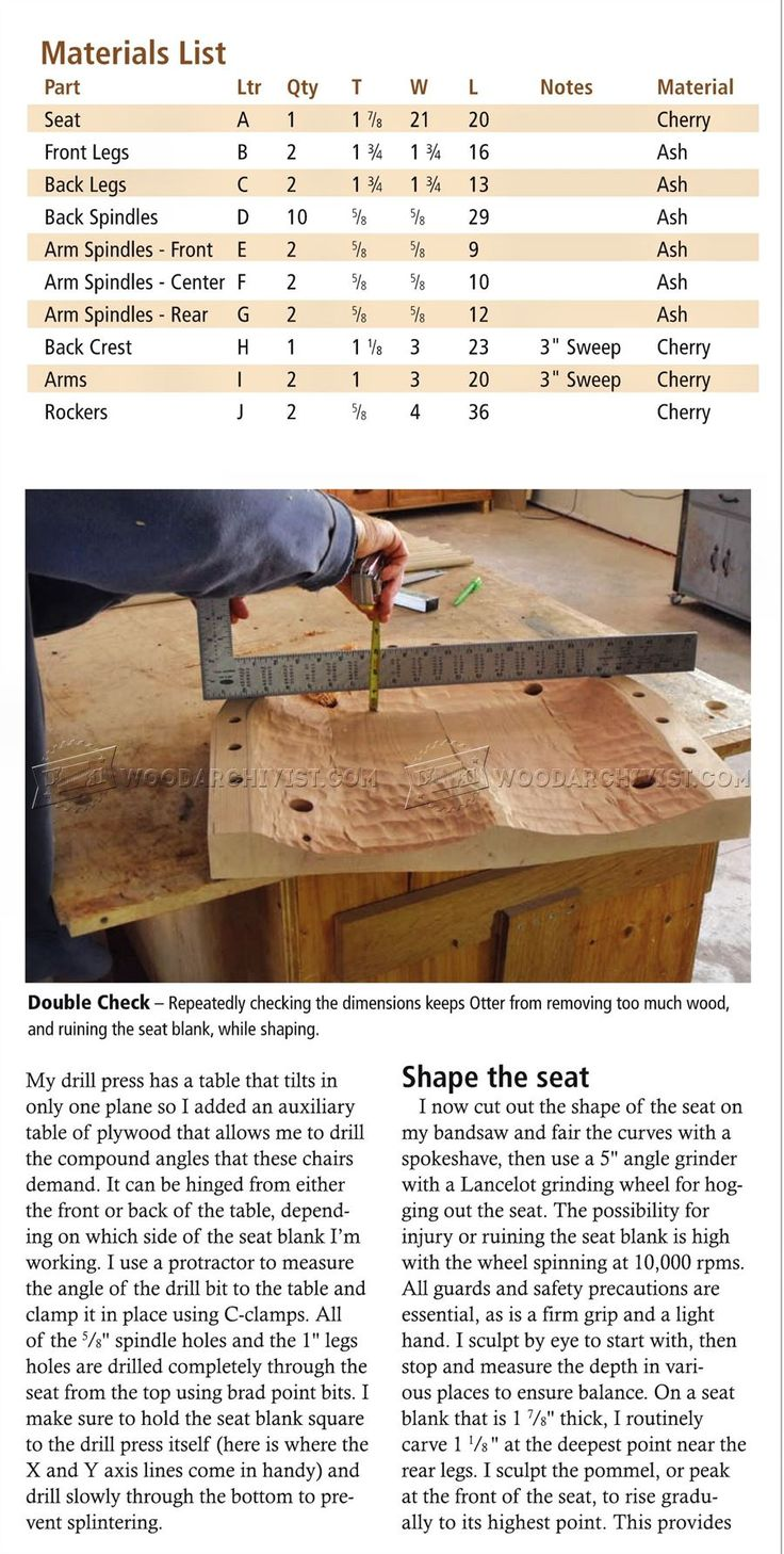 Rocking Chair Plans - Furniture Plans