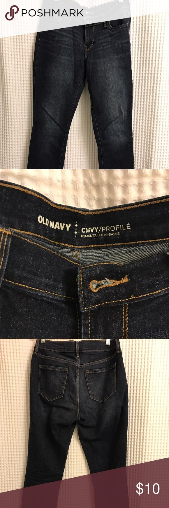 Old navy curvy jeans Old navy curvy jeans. Dark wash. Never worn and in excellent condition. GAP Pants Straight Leg